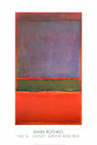 N° 6 (Violet, vert et rouge), 1951 Reproduction d'art par Mark Rothko