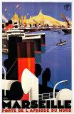 Marseille Reproduction d'art par Roger Broders