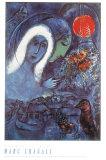 Champs de Mars Reproduction d'art par Marc Chagall