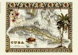 Carte tropicale de Cuba Giclée