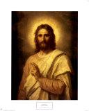 Figure du Christ Reproduction d'art par Heinrich Hofmann
