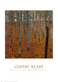 Forêt de hêtres Reproduction d'art par Gustav Klimt