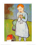 Femme au Pigeon Reproduction d'art par Pablo Picasso