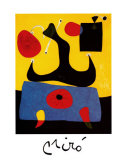 Femme Assise Reproduction d'art par Joan Miró