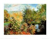 Coin de jardin à Montgeron Reproduction d'art par Claude Monet