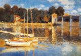 Ponte Ad Argenteuil Reproduction d'art par Claude Monet