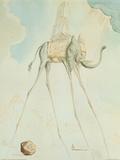 L'éléphant girafe Reproduction d'art par Salvador Dalí