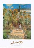 Le Jardin de Monet à Vétheuil Reproduction d'art par Claude Monet
