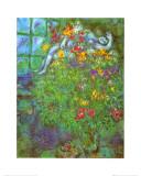 Le Bouquet Ardent Reproduction d'art par Marc Chagall