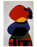 Femme avec trois cheveux Reproduction d'art par Joan Miró
