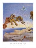 Rêve causé par le vol d'une abeille autour d'une pomme-grenade, vers 1944 Reproduction d'art par Salvador Dalí