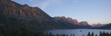 A Panoramic View of the Mountains Above Wild Goose Island