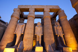 Ramses II Statues and Columns in the Luxor Temple Complex