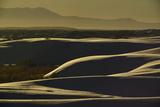 Sunlight and Shadows on Gypsum Sand Dunes