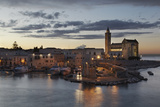 A Dusk View of the Fishing Harbor of Trani