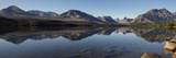 A Panoramic View of the Mountains Behind Saint Mary Lake