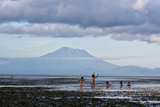 Kids Playing in the Water on the Coast of Bali