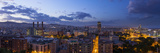 A Stitched Panorama of Barcelona  Spain  From the Mirador on Monjuic