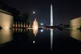 The Washington Monument Reflected in the World War II Memorial Pool