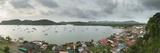 High Angle Panoramic View of Portobelo  Panama