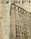 Vintage NY Flat Iron Reproduction d'art par Michael Mullan