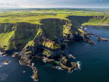 Aerial View of the Giant's Causeway in Northern Ireland