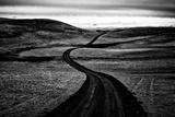 A Road Passing Through a Landscape of Gentle Hills Papier Photo par Jonathan Irish
