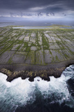 Ancient Stone Walls Pattern Inisheer Enveloped in the Atlantic