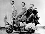 "Audrey Hepburn  Eddie Albert  Gregory Peck ""Roman Holiday"" 1953  Directed by William Wyler"
