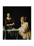 Lady With Her Maidservant Holding a Letter  1666
