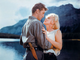 """Robert Mitchum  Marilyn Monroe """"River of No Return"""" 1954  Directed by Otto Preminger"""