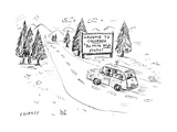 """Welcome to Colorado """"The Mile High State"""" - Cartoon"""