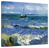 Vincent van Gogh 'Seascape At Saintes Maries' Wrapped Canvas Art