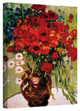 Vincent van Gogh 'Daises and Poppies' Wrapped Canvas
