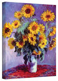 Claude Monet 'Sunflowers' Wrapped Canvas