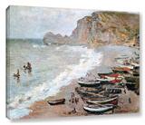 Claude Monet 'Cliffside Boats' Wrapped Canvas