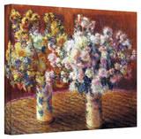 Claude Monet 'Two Vases' Wrapped Canvas Art