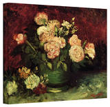 Vincent van Gogh 'Peonies and Roses' Wrapped Canvas