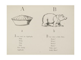 Apple-pie and Bear Illustrations and Verse From Nonsense Alphabets by Edward Lear