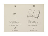 Ant and Book Illustrations and Verse From Nonsense Alphabets by Edward Lear