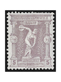 A Discus Thrower Greece 1896 Olympic Games 5 Lepta Unused - Philatelic Collections