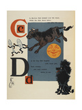 Alphabet Page: C and D the Cow That Jumped Over the Moon the Dog That Laughed