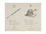 Quill and Rattlesnake From Nonsense Alphabets Drawn and Written by Edward Lear