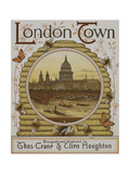 Title Page  Depicting St Paul's Cathedral Illustration From London Town'