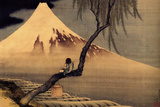 Katsushika Hokusai A Boy in front of Fujiama