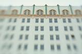 Surreal Shot of a 1920s Seafoam Green Art Deco Building