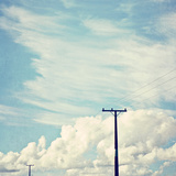 Blue Sky And Clouds with Power Lines 2