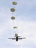 Students Jump from a C-130 Hercules