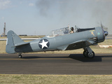 A T-6 Harvard Trainer Aircraft in Midland  Texas