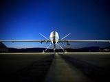 An MQ-9 Reaper Sits On the Flightline
